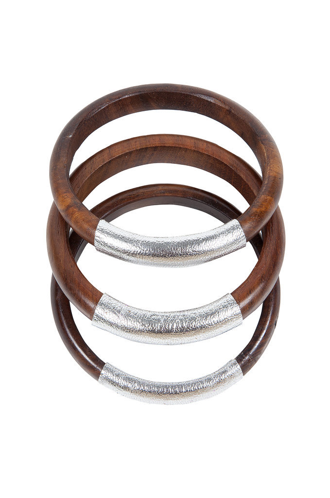 Raven + Lily Ferdoz Large Wood Leather Bangle