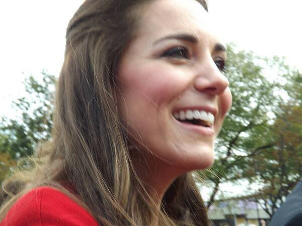 A fan got a close shot of Kate during her visit to Christchurch, New Zealand. Source: Twitter user Machatte