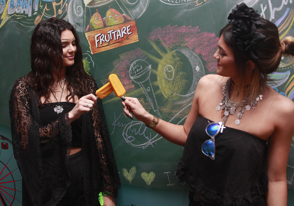 Kendall and Kylie Jenner clinked popsicles.