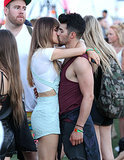 Joe Jonas and girlfriend Blanda Eggenschwiler weren't hiding their love.