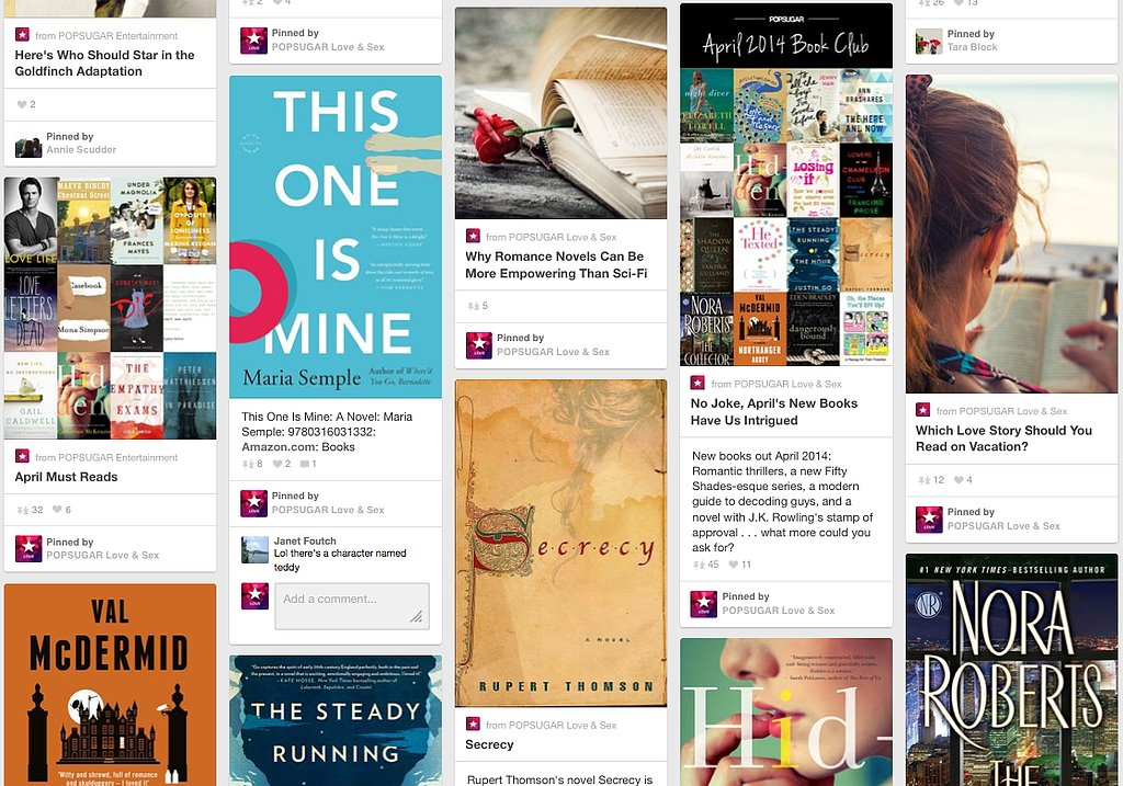 Your Pinterest boards are basically a visual library.