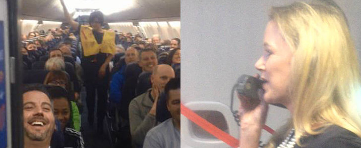 This Hilarious Flight Attendant Deserves an Award For Her Flight-Safety Speech