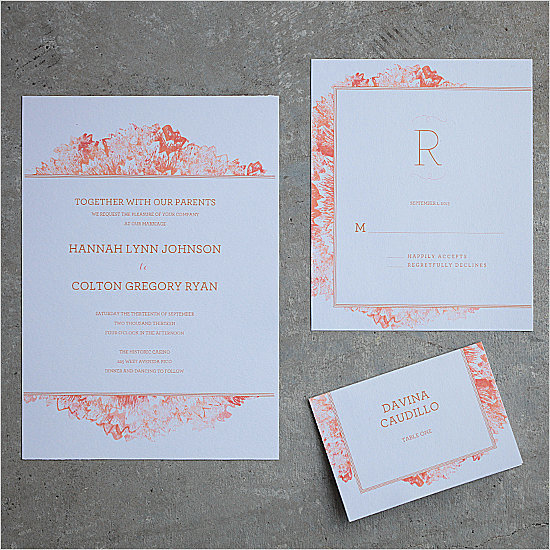 Petunia Watercolor Wedding Invitation
