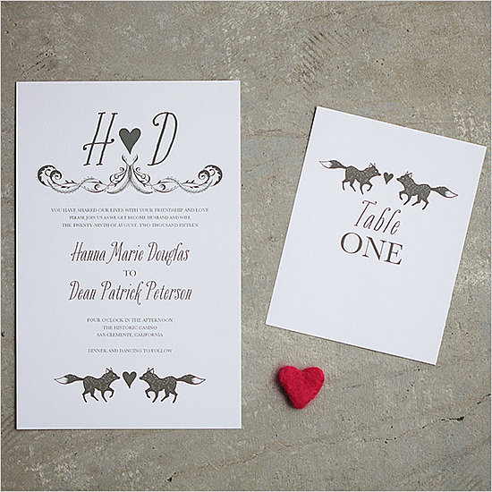 Fox Wedding Invitation