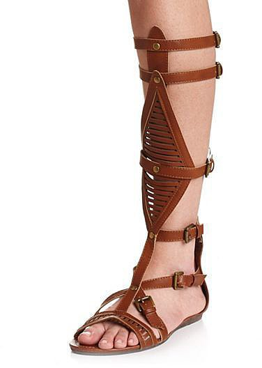 Charlotte Russe Knee-High Gladiator Sandals