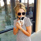 Ashley Benson got close to the tiniest puppy. Source: Instagram user itsashbenzo
