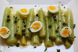 Leeks Vinaigrette With Herbed Quail Eggs