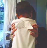 "Kendall Jenner shared a picture of ""little angel"" North in April 2014. Source: Instagram user kendalljenner"