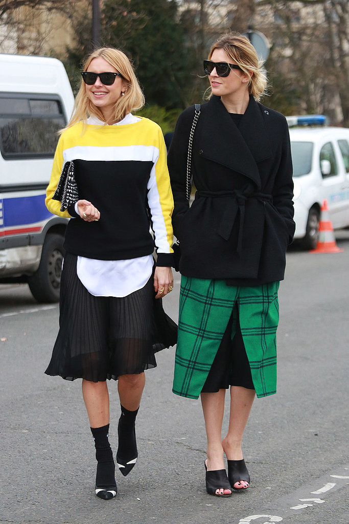 Camille Charrière's (right) slides feel much easier and a lot fresher than a pair of booties would.<br /> Source: Tim Regas<br />