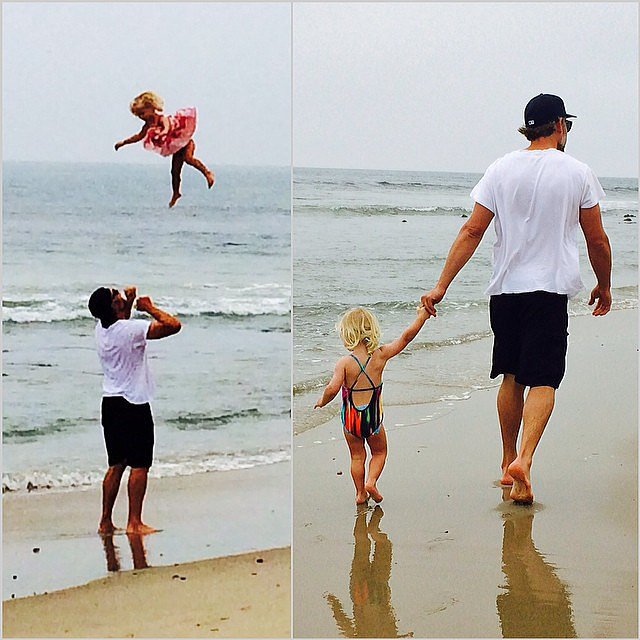 Wow! Maxwell Simpson soared higher than a kite during an afternoon on the beach.  Source: Instagram user jessicasimpson