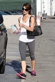 Ashley Greene was snapped leaving the gym in West Hollywood.