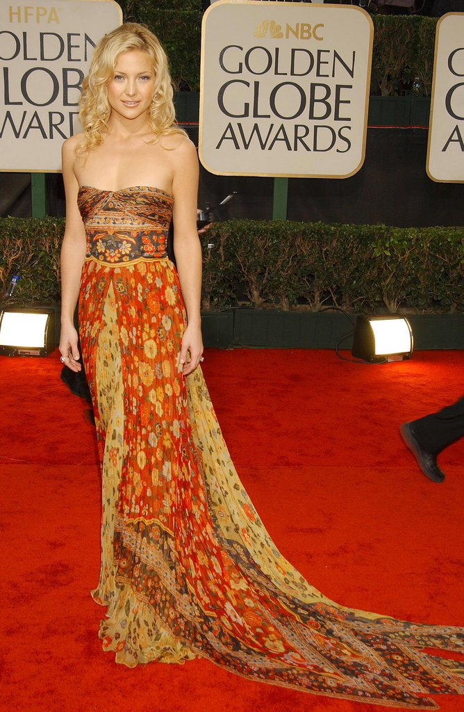Kate Hudson in Printed Valentino at the 2003 Golden Globe Awards