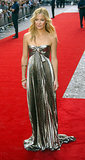 Kate Hudson in Metallic Roberto Cavalli Gown at 2005 The Skeleton Key London Premiere