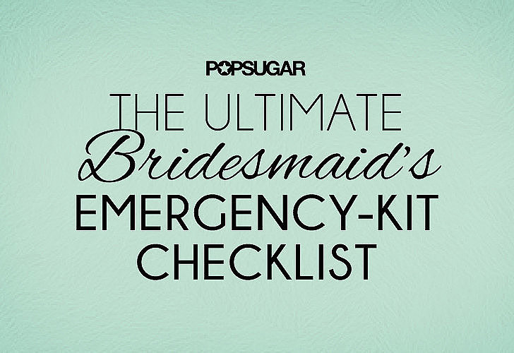 You've survived the bachelorette party, altered your bridesmaid dress, and even chosen the perfect nail polish to wear when it's go time. But that doesn't mean you're 100 percent prepared (sorry ladies!). To avoid any wedding beauty disasters, POPSUGAR Beauty crafted the ideal emergency kit so you can pack it in advance and be the bride's ultimate savior before she walks down the aisle.