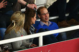 A rare night off! Kate and William took in a rugby match at Allianz Stadium in Sydney in April 2014. Feet up, beer in cups — we rarely get to see the royals looking this candid.