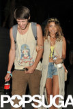 Sarah Hyland laughed with her boyfriend, Matt Prokop.