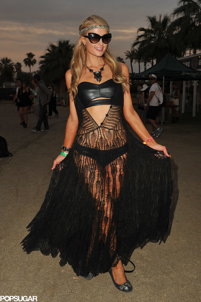 Paris Hilton donned a revealing number.