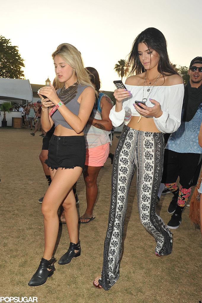 Kendall Jenner bared her midriff.