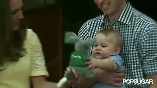 When Prince George threw his toy on the ground.