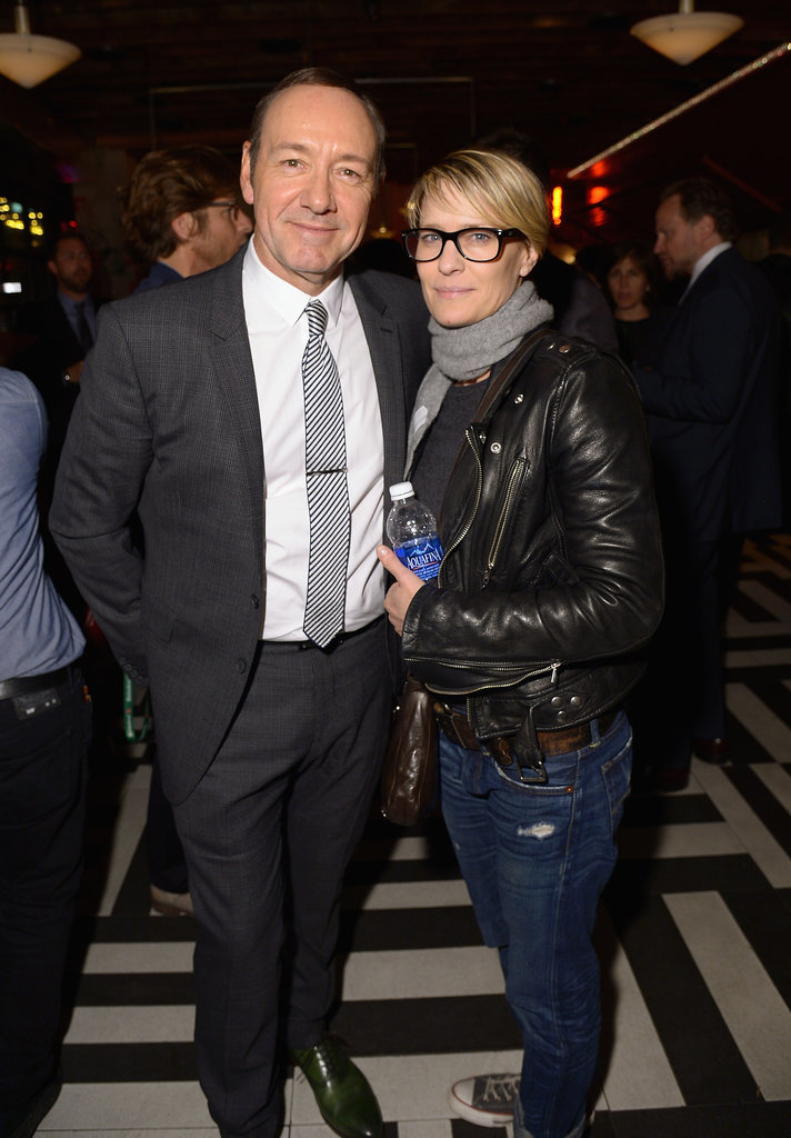 Robin Wright showed support for her House of Cards costar Kevin Spacey at the afterparty for Now: In the Wings on a World Stage.