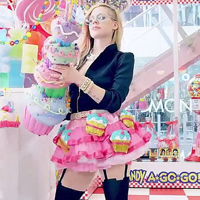 "Avril Lavigne ""Hello Kitty"" Music Video GIFs"