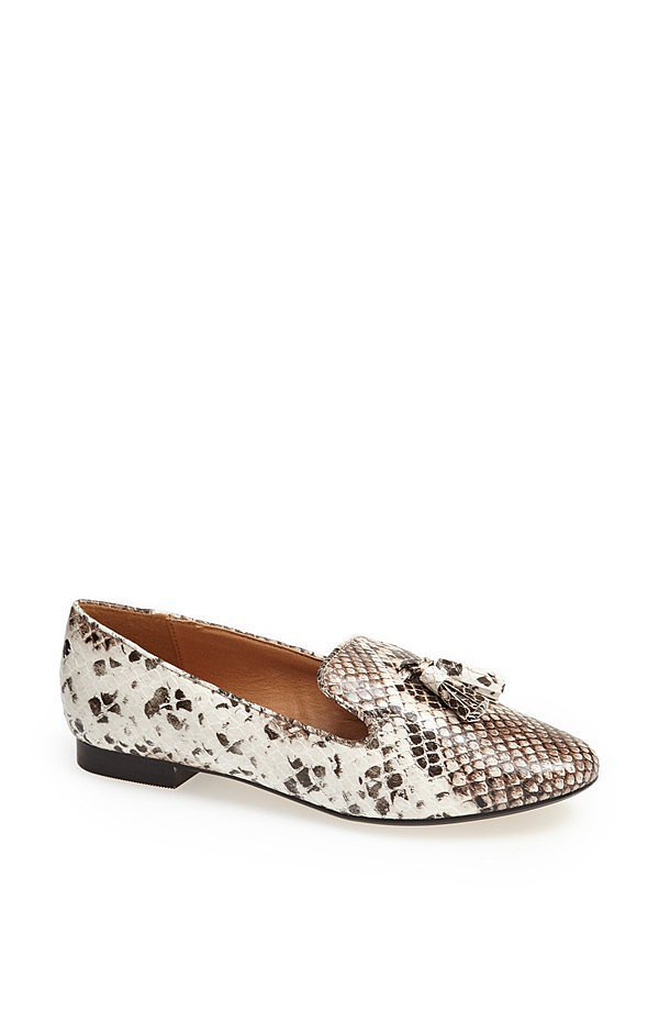 Topshop Snake-Print Loafers