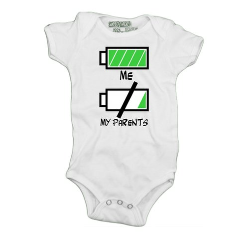 Kid vs. Parent Battery Life Onesie