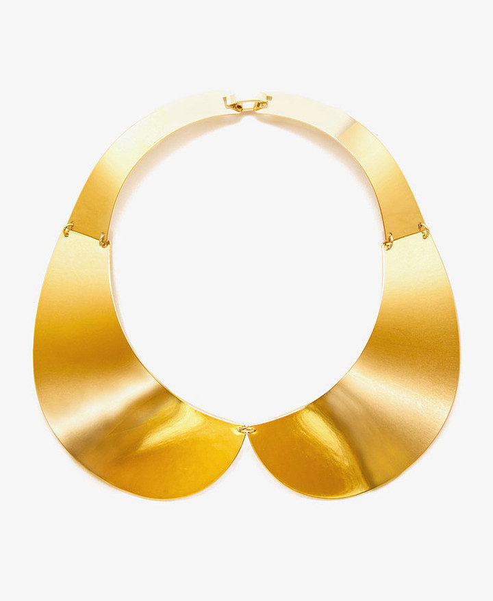 Forever 21 Gold Peter Pan Collar Necklace