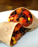 Monday: Roasted Sweet Potato and Black Bean Burrito
