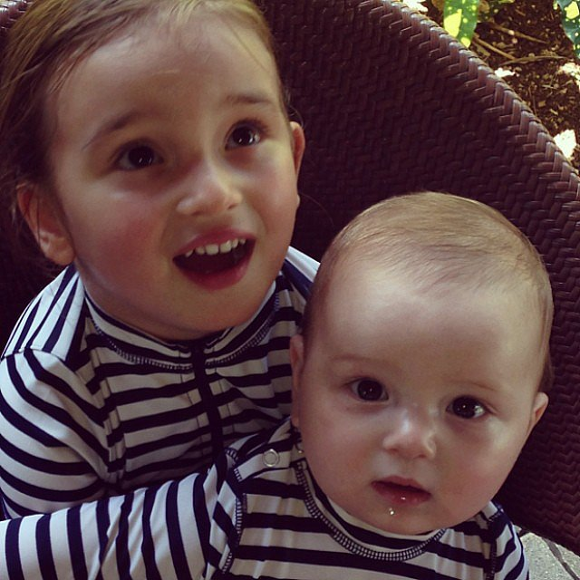 Arabella and Joseph Kushner looked supersweet in their matching swim gear while on vacation during Spring break. Source: Instagram user ivankatrump