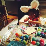 Monroe Cannon got creative while decorating her Easter eggs. Source: Instagram user mariahcarey