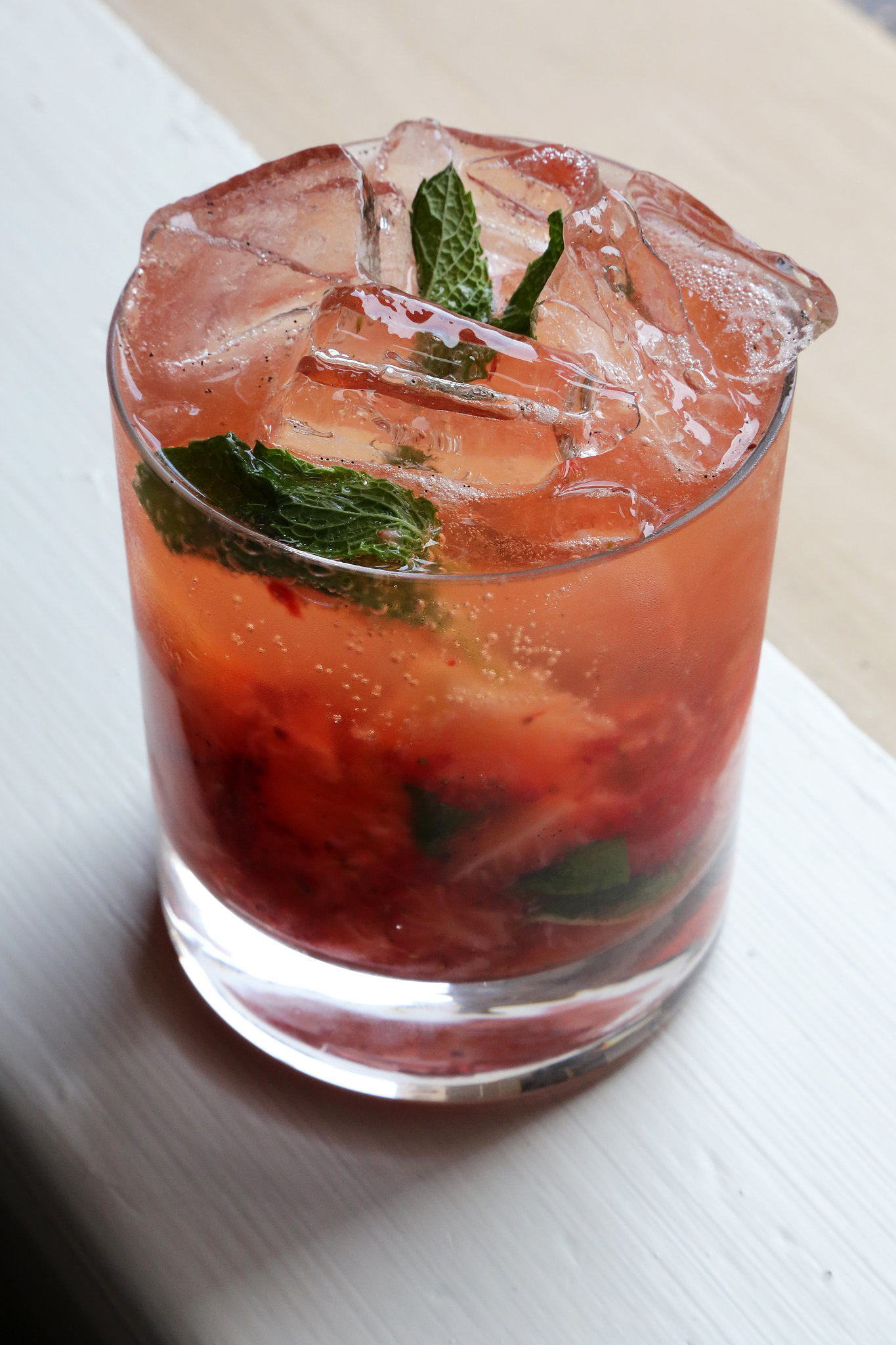easy strawberry bourbon cocktail popsugar food