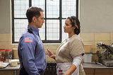 Oh hey, remember when John (Matt McGorry) knocked up Diaz (Dascha Polanco)? Source: Netflix