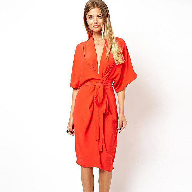 Best wedding guest dresses popsugar fashion for Red midi dress wedding guest