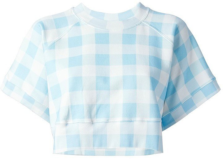 Au Jour Le Jour Gingham Crop Top