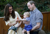 Prince William held on to Prince George while Kate Middleton played with him at the zoo in Sydney, Australia in April 2014.