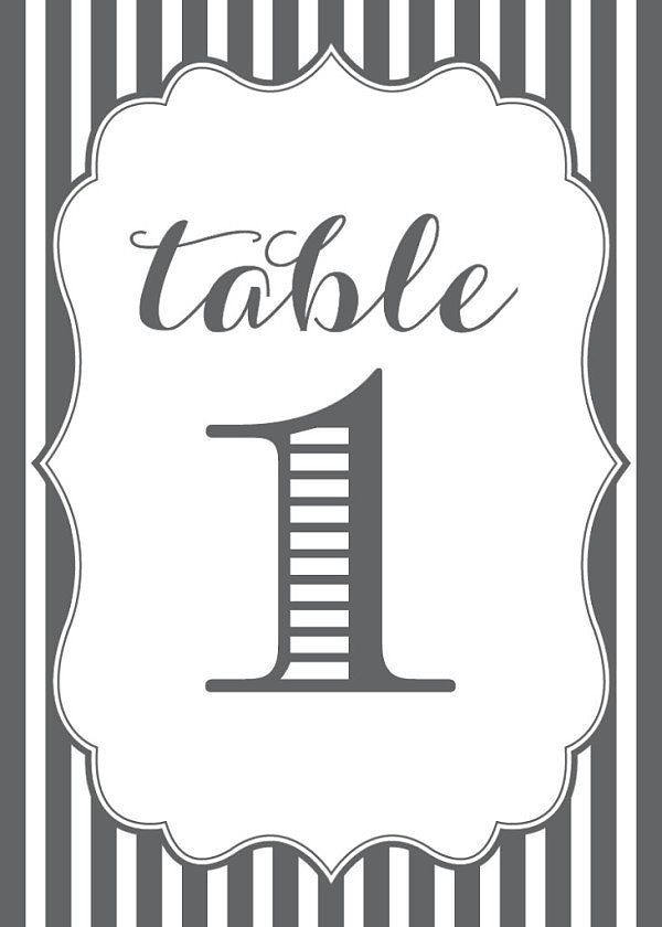 Striped Table Numbers