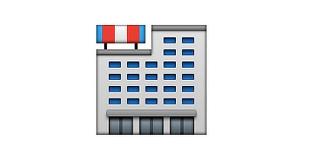 "Interpretation: ""Random building — could be an apartment complex, a hospital, or jail. Who knows?"" Name + meaning: Department Store. A large department store, selling a range of products to the general public. Also known as: Shops emoji; shopping center emoji Source: Emojipedia"