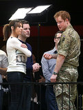 Harry looked handsome in his fatigues during his announcement for the Invictus Games in London in March 2014.
