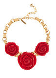 Oscar de la Renta Red Rose Necklace