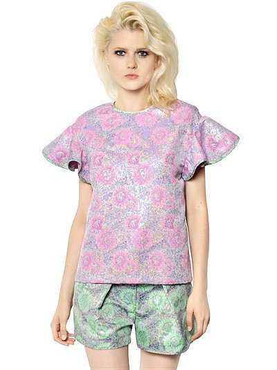 Luisaviaroma Techno Brocade Effect Top