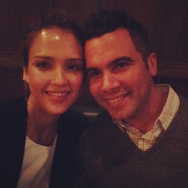 """I've officially spent a decade of my life w this hottie -love of my life @cash_warren u make me so happy #bday #dinner,"" Jessica Alba captioned this photo of her and husband Cash Warren. Source: Instagram user je"