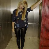 Beyoncé made this face in an elevator. Source: Instagram user beyonce