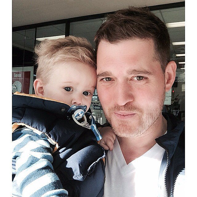 Michael Bublé enjoyed a walk in Melbourne, Australia, with little Noah. Source: Instagram user michaelbuble