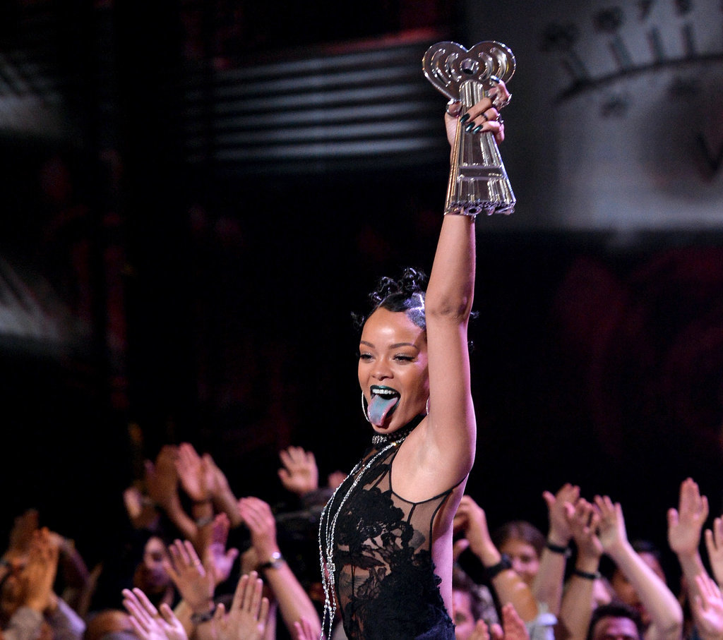 She Celebrated on Stage Like This