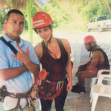 Kanye West's Sad Face About Zip-Lining