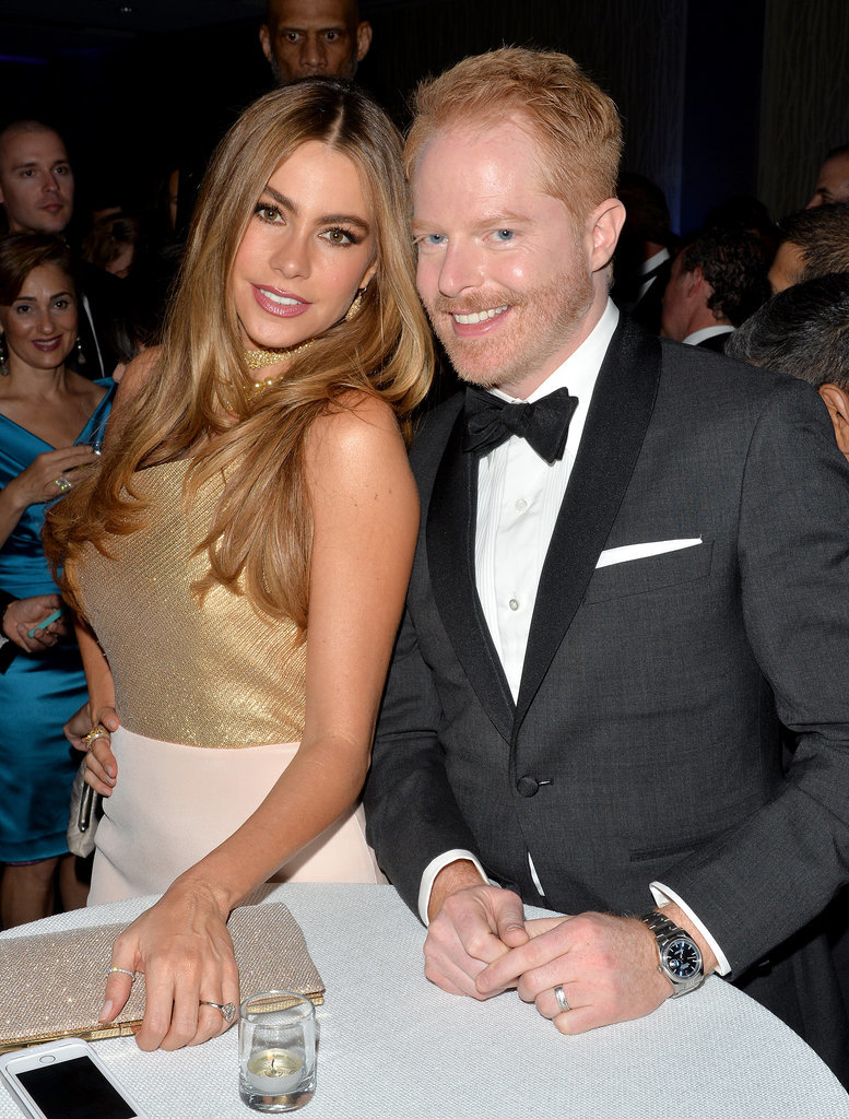 Sofia Vergara and Jesse Tyler Ferguson hung out inside.