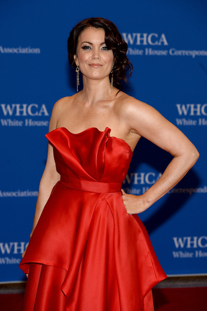 Bellamy Young opted for a dress fit for the first lady on Scandal.