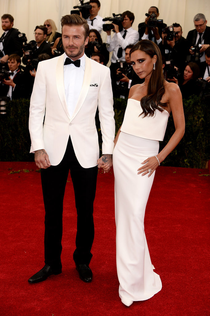 David and Victoria Beckham at the 2014 Met Gala