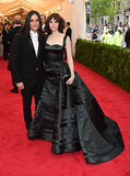 Olivier Theyskens and Felicity Jones at the 2014 Met Gala